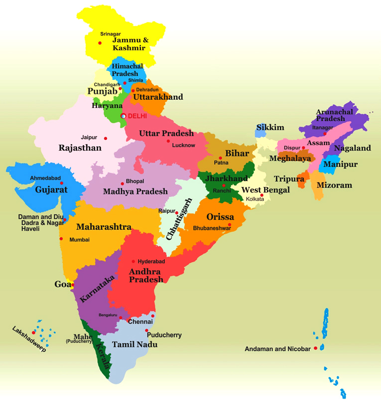 States Of India Indian States Information
