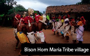 Bison Horn Maria Tribe village